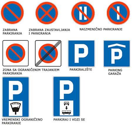 saobracajni znaci obavestenja