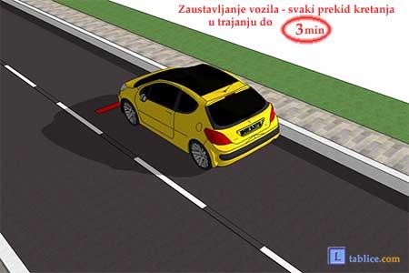 zaustavljanje vozila na putu